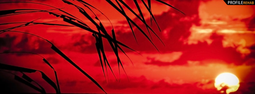 Red Sunset Facebook Cover