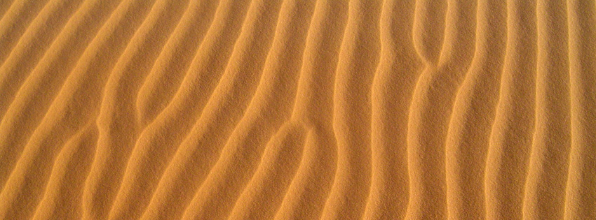 Sand Dunes Texture Facebook Cover