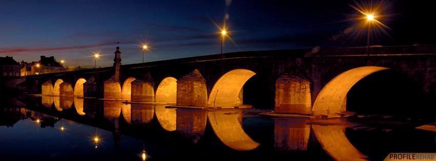 Scenic Bridge Sunset Timeline Cover