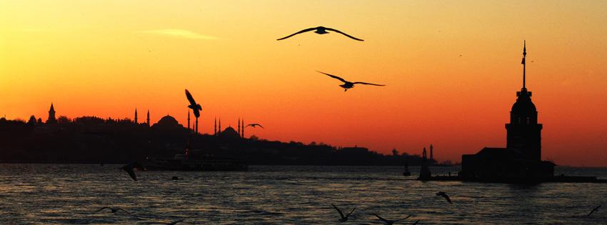 Beautiful Sunset over Ocean Facebook Cover