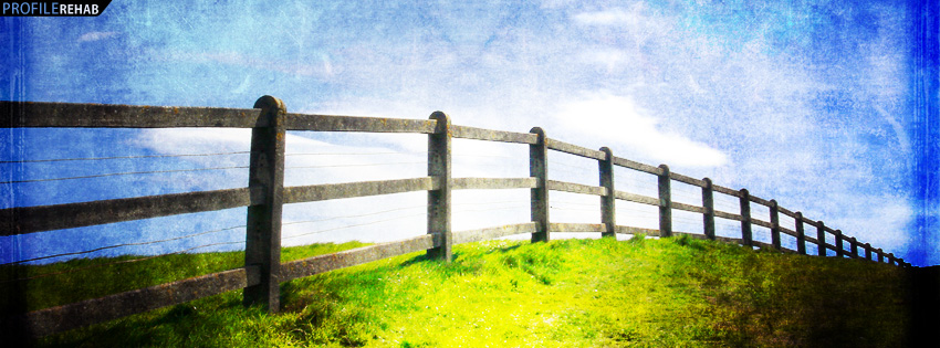 Scenic Field and Fence Facebook Cover