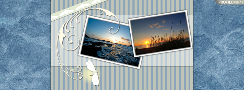 Scenic Sunset & Fireflies Facebook Cover for Timeline