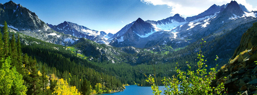 Scenic Snowy Mountains Facebook Cover