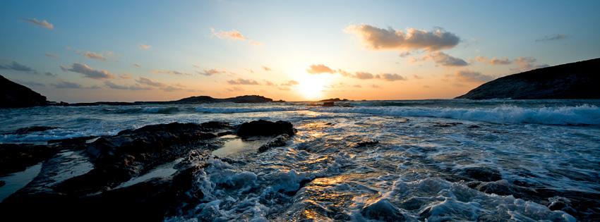 Scenic Ocean Sunset Facebook Cover