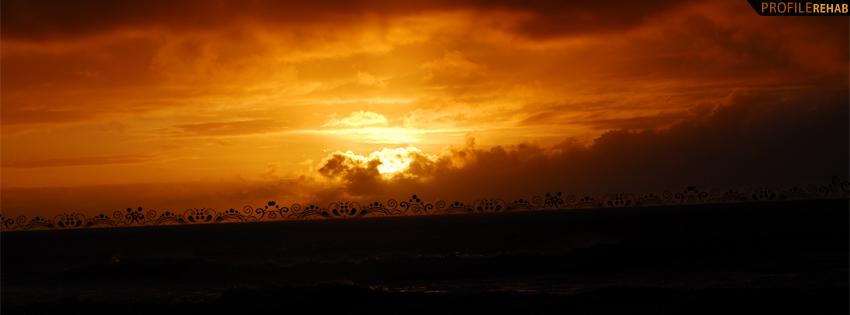 Beautiful Orange Sunset Facebook Cover