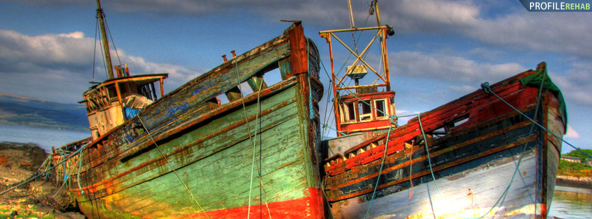 Island of Mull Scotland Boats Facebook Cover