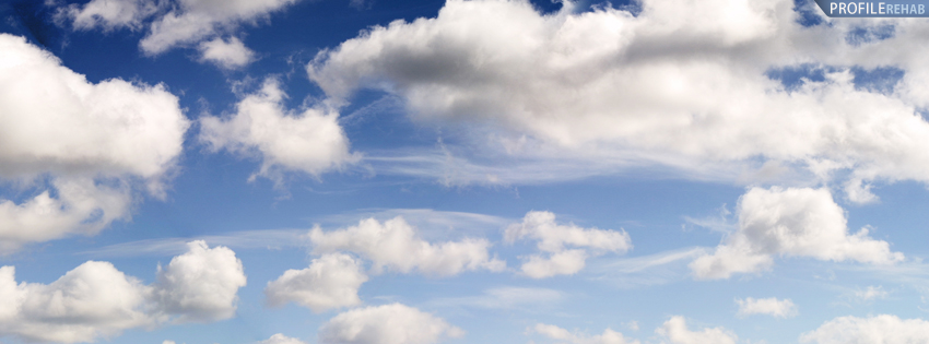 Blue SKy and Clouds Cover for Facebook Timeline Preview