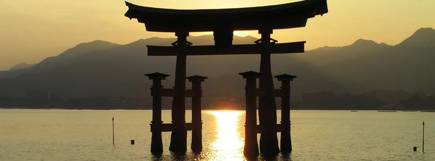 Itsukushima Shrine Torii Japan Facebook Cover