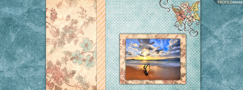 Scenic Vintage Sunset Facebook Cover