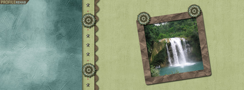 Cute Waterfall Facebook Cover for Timeline Preview