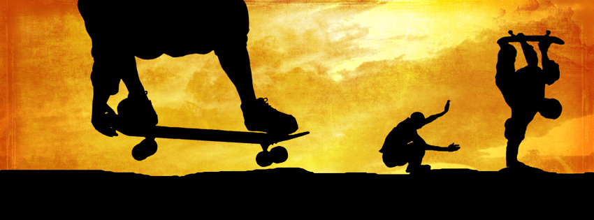 Sunset Skateboarding Facebook Cover