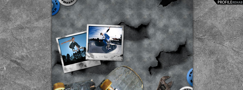 Gray Skateboarder Facebook Timeline Cover