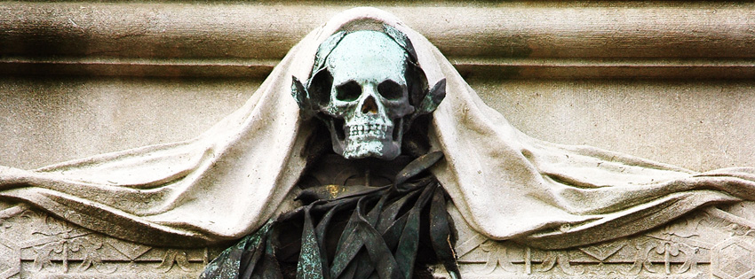 Gothic Skull Architecture Facebook Cover - Images of Skulls - Cool Skull Picture