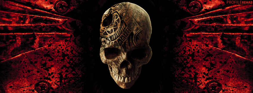 Black & Red Skull Facebook Cover for Timeline - Cool Skull Pictures