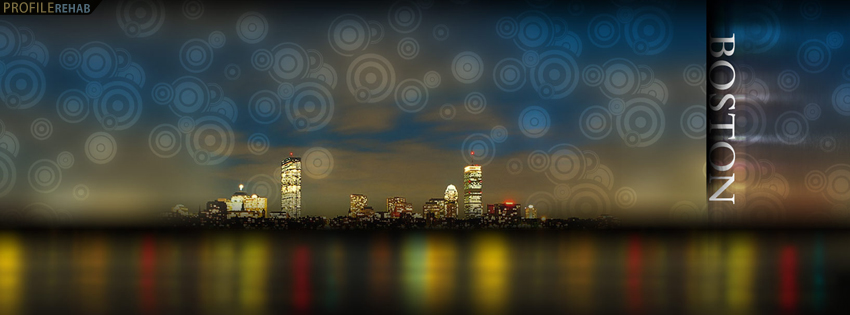 Cool Boston Skyline Facebook Cover for Timeline