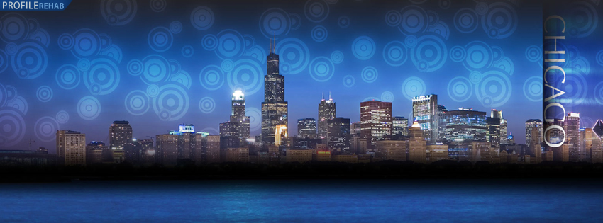 Artistic Chicago Skyline Facebook Cover