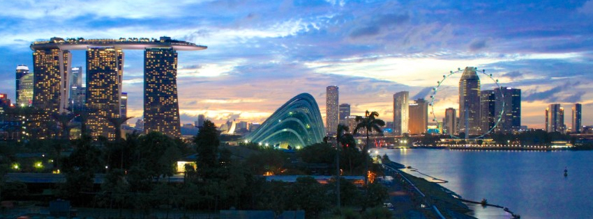 Singapore Skyline Facebook Cover