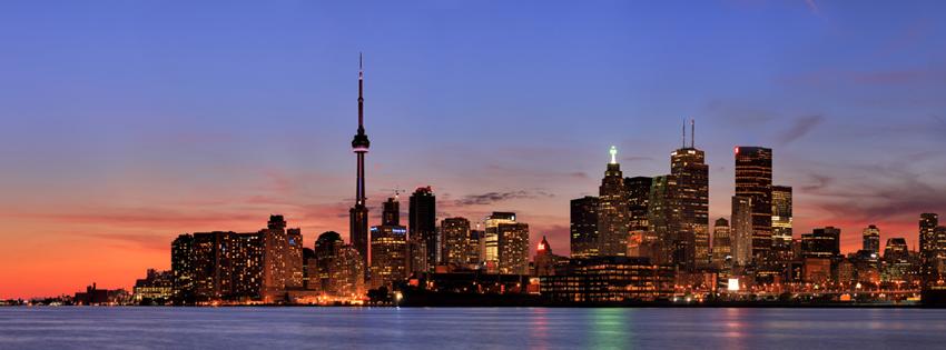 Toronto Canada Skyline Facebook Cover