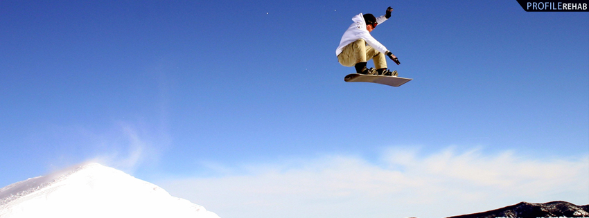 Cool Snowboarder Facebook Cover for Timeline