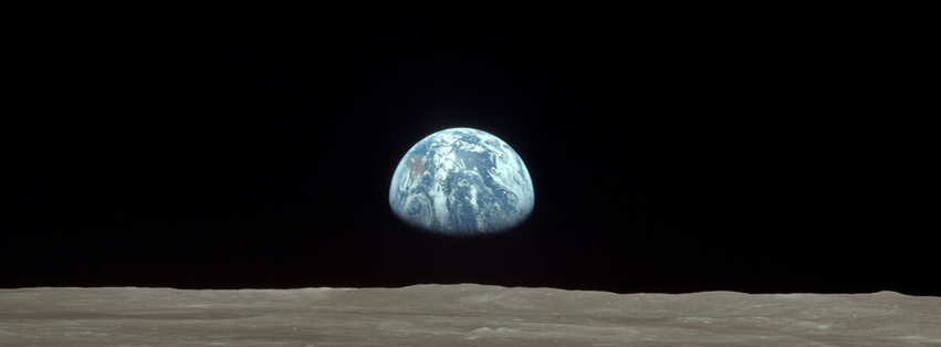 Earth from the Moon Facebook Photo