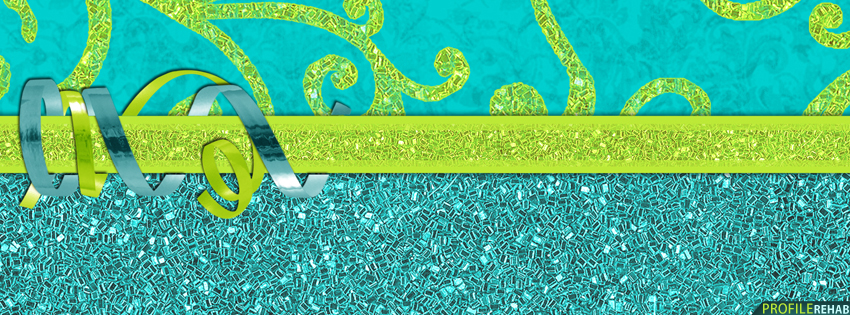 Green & Blue Sparkly Facebook Cover