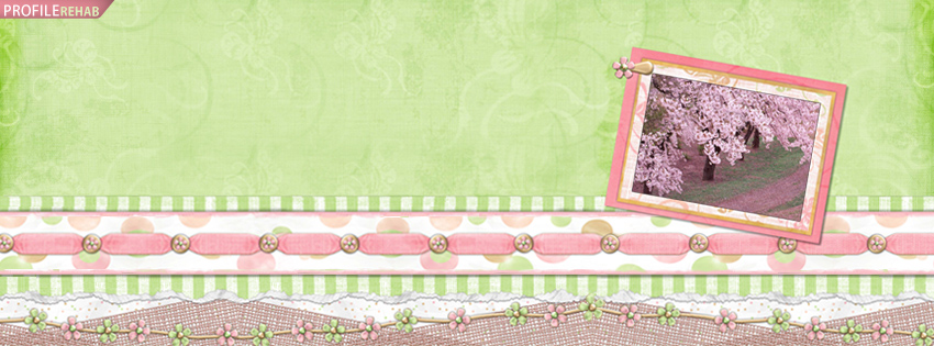 Pretty Spring Cherry Tree Facebook Cover Preview
