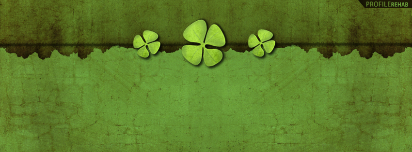 Four Leaf Clover Facebook Timeline Cover - St Patricks Pictures
