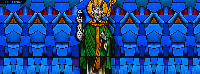 Images of St Patrick - Picture of St Patrick - Pictures of St Patrick Stained Glass Preview