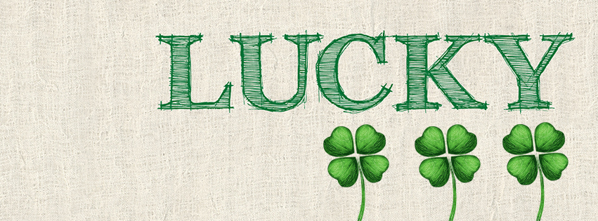 Lucky 4 Leaf Clover Facebook Cover - St Patricks Pictures for Facebook