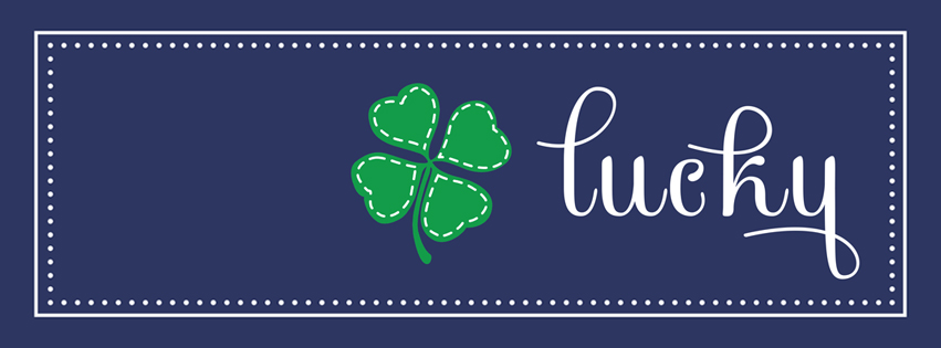 Lucky St Patricks Day Facebook Cover shirt lucky Irish Shamrock