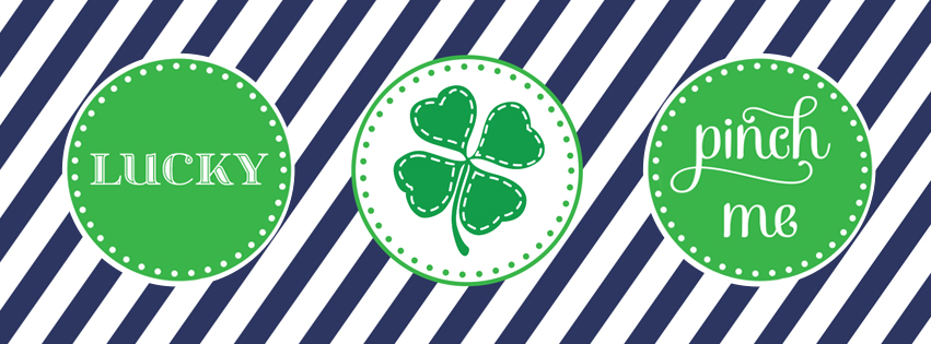Four Leaf Clover Saint Patricks Day Facebook Covers - Shamrock Images