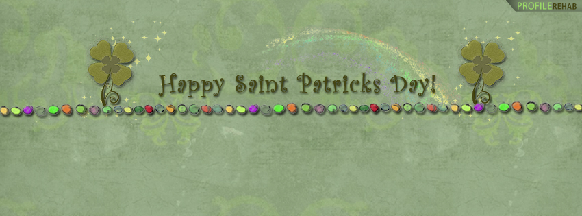 St. Patricks Day Rainbow Facebook Timeline Cover - Cute St Patricks Day Pictures