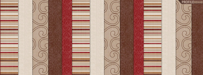 Brown & Red Striped Facebook Cover