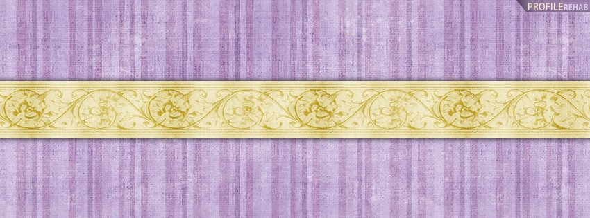 Purple & Gold Stripes Facebook Cover