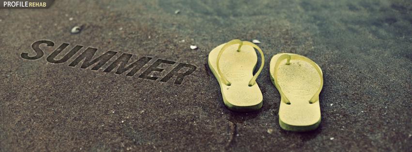 Flip Flops on Beach Facebook Photo