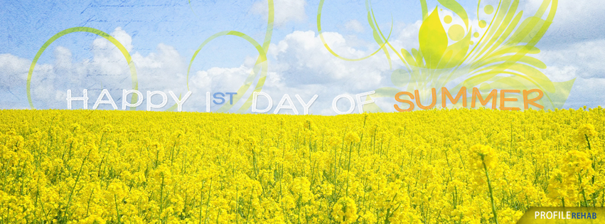 Happy First Day of Summer Graphics - Cute Summer Graphic for Facebook Cover