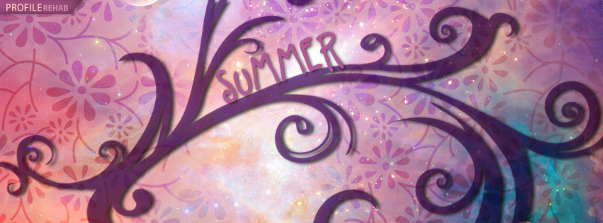 Cute Summer Facebook Cover - Flowery Summer FB Covers