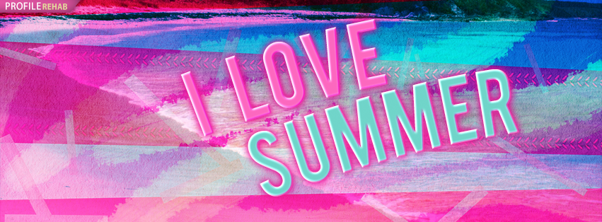 Retro I love Summer Facebook Cover