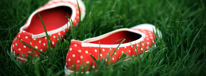Cute Summer Photo - Summer Polkadot Shoes Facebook Cover