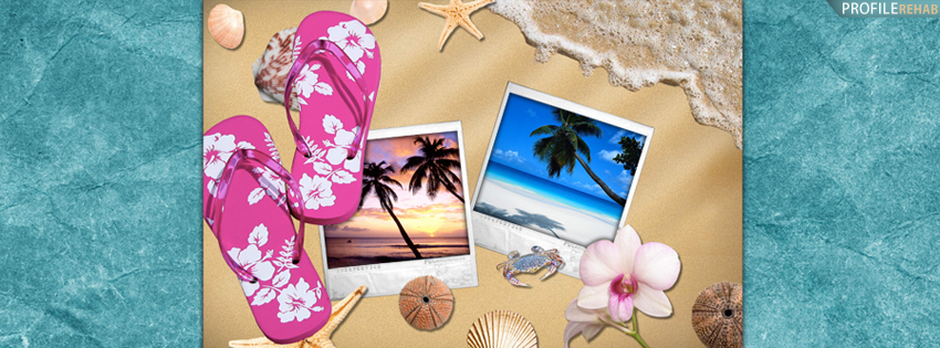 Summer Banners for Facebook - Cute Summer Banner -  Flipflops Cover for Timeline