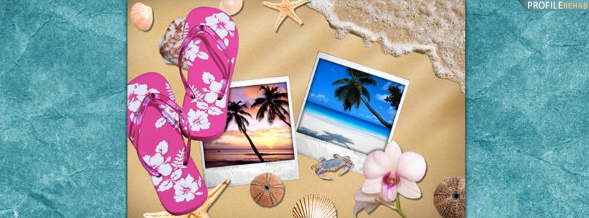Summer Banners for Facebook - Cute Summer Banner -  Flipflops Cover for Timeline