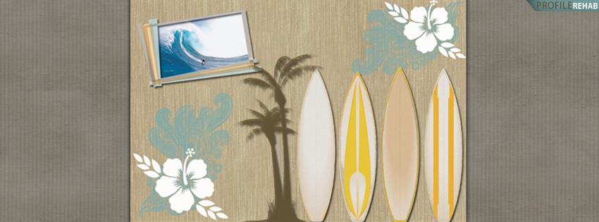 Blue & Brown Surfboard Facebook Cover for Timeline