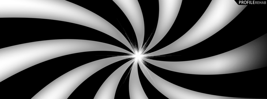 Black and White Swirl Cover for Facebook