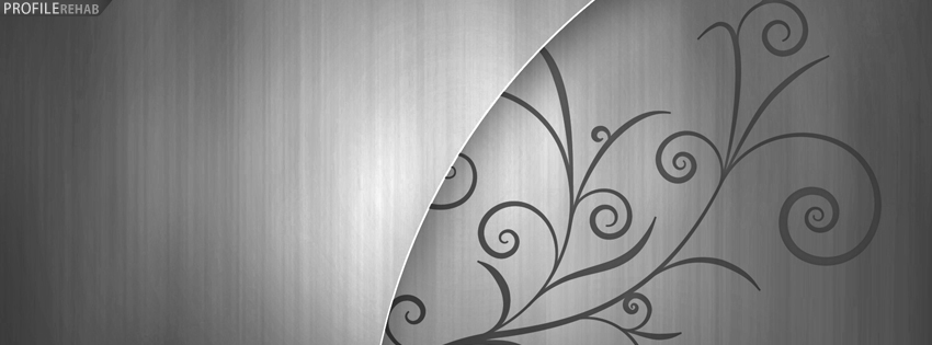 Silver Swirly Facebook Cover Preview