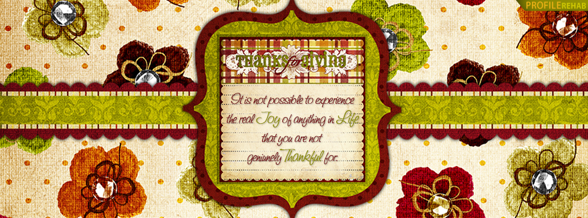 Thanksgiving Quote Facebook Cover - Beautiful Thanksgiving Images and Quotes