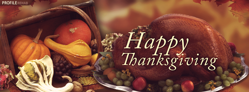 Happy Thanksgiving Facebook Covers with Pics of Thanksgiving Turkey-Photos Thanksgiving