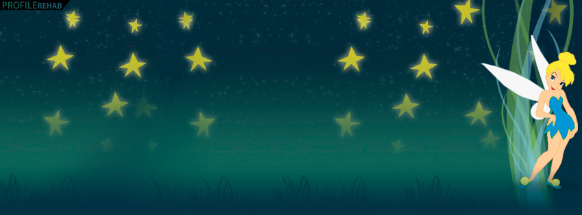 Cute Tinkerbell Stars Facebook Cover