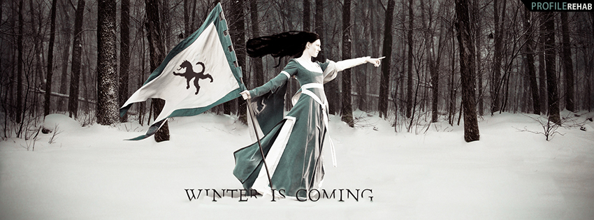 Winter is Coming Game of Thrones Facebook Cover
