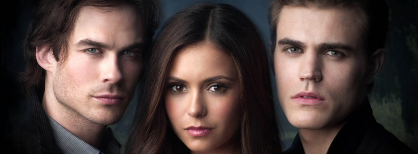 Stefan, Damon and Elena from Vampire Diaries Timeline Cover