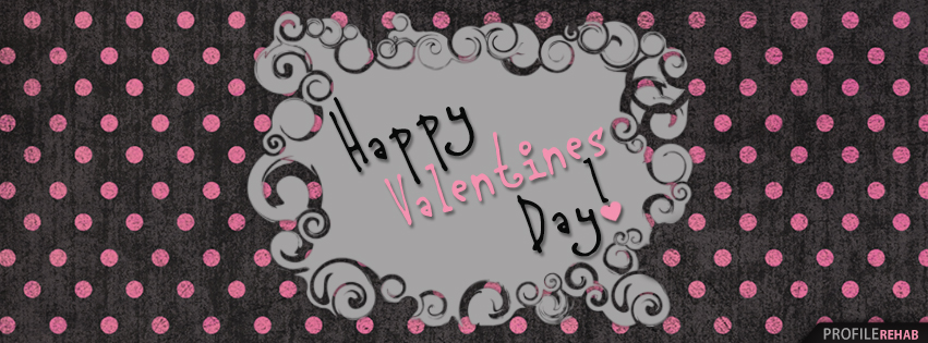 Pink and Black Polkadot Happy Valentines Day Pictures for FB